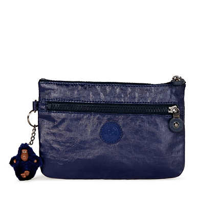 Ness Embossed Small Pouch - Laquer Indigo