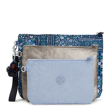 Iaka Large Wristlet Pouch Set - Dizzy Darling Blue