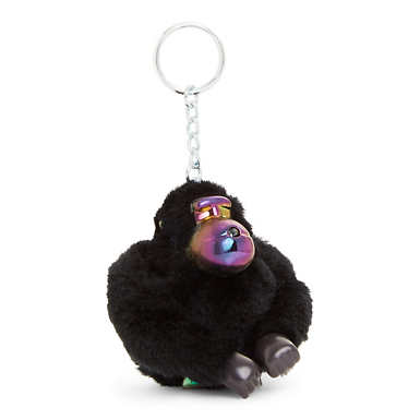 Trevor Iridecent Monkey Keychain - Black