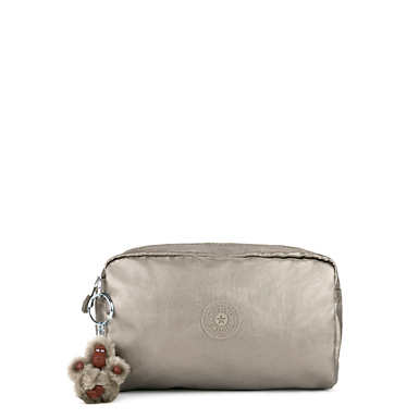Gleam Metallic Pouch - Metallic Pewter