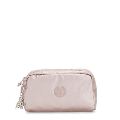Gleam Metallic Pouch - Metallic Rose