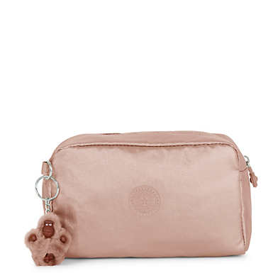 Gleam Metallic Pouch - Rose Gold Metallic