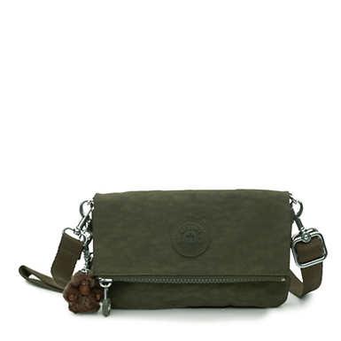 Lynne 3-in-1 Convertible Crossbody Bag - Jaded Green Tonal Zipper