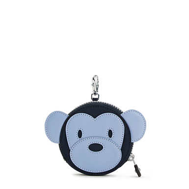 Monkey Marguerite Zip Coin Purse - True Blue Combo