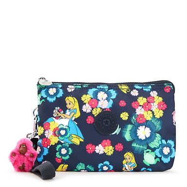 Disney's Alice in Wonderland Creativity Extra Large Pouch with Detachable Wrist Strap - Tea Rose