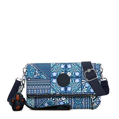 Lynne Printed Convertible Crossbody Bag - Dizzy Darling Blue