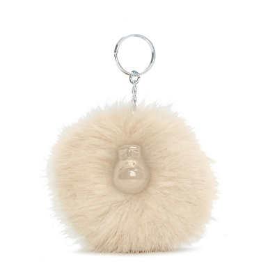 Pompom Monkey - Silver Beige