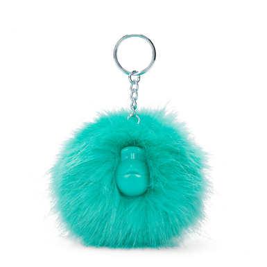 키플링 몽키 키체인 Kipling Pompom Monkey Keychain,Deep Aqua