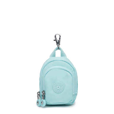 Mini Seoul Keychain - Fresh Teal Tonal Zipper