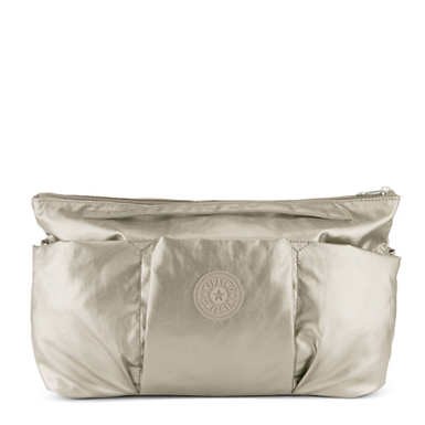 Beckett Metallic Handbag Organizer - Metallic Pewter