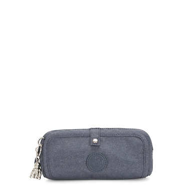 Wolfe Pencil Pouch - Navy Blue Twist