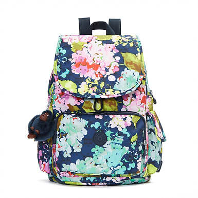 Ravier Medium Printed Backpack - Luscious Florals Blue