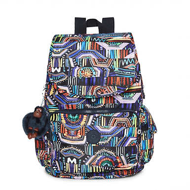 Ravier Medium Printed Backpack - Graffiti Waves