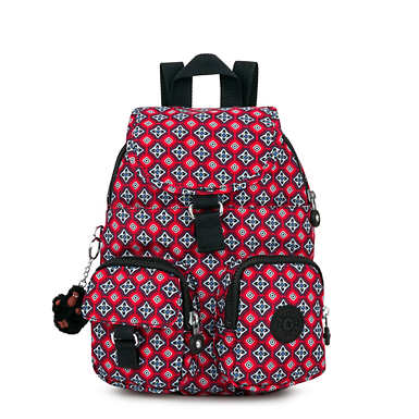 Lovebug Small Printed Backpack - Mystical Medallion Orange