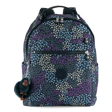 Micah Medium Printed Laptop Backpack - Dotted Bouquet