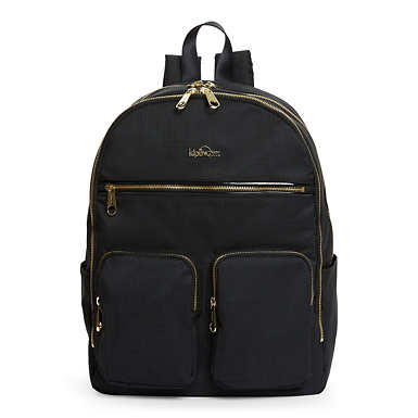 Tina Large Laptop Backpack - Black Crosshatch