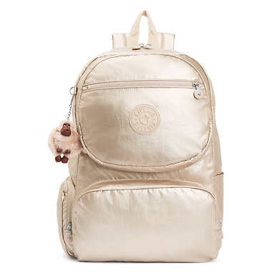 "Dawson Large Metallic 15"" Laptop Backpack - Sparkly Gold"