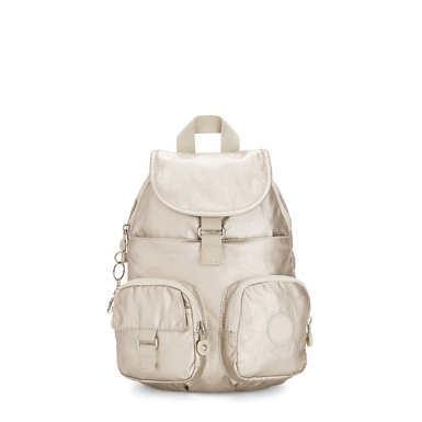 Lovebug Small Metallic Backpack - Cloud Metal