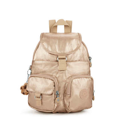 Lovebug Small Metallic Backpack - Toasty Gold