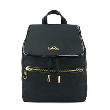 키플링 Kipling ClaudetteSmall Backpack,Black Crosshatch