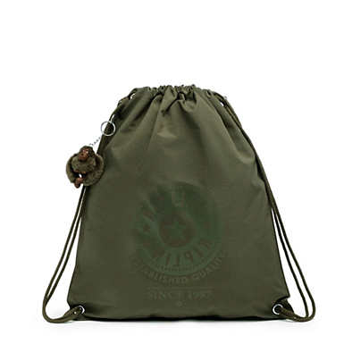 Emjay Drawstring Backpack - Jaded Green