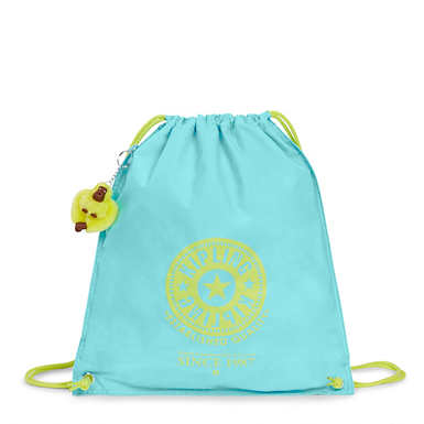 Emjay Drawstring Backpack - Blue Splash