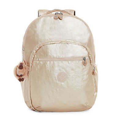 Seoul Extra Large Metallic Laptop Backpack - Sparkly Gold