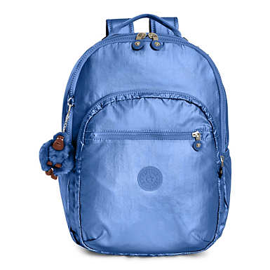 Seoul Large Metallic Laptop Backpack - Metallic Scuba Diver Blue