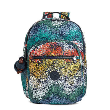 Seoul Large Printed Laptop Backpack - undefined