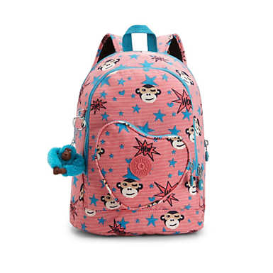 Heart Printed Kids Backpack - undefined