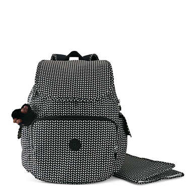 Zax Printed Backpack Diaper Bag - Small Leaf
