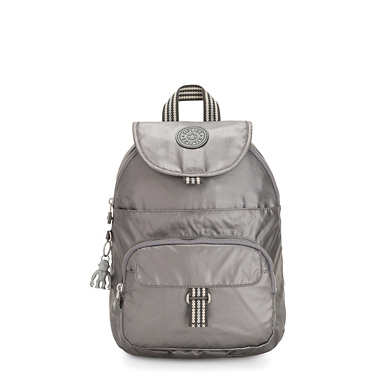 Queenie Small Metallic Backpack - Carbon Metallic