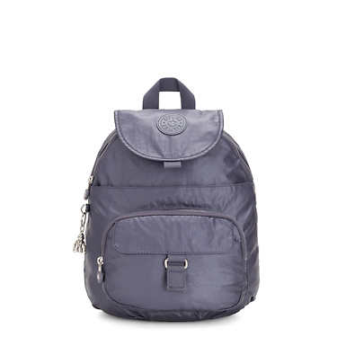 Queenie Metallic Small Backpack - Enchanted Purple Metallic