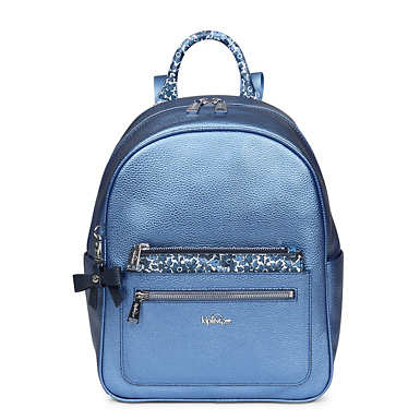 Amory Small Metallic Backpack - Metallic Scuba Diver Blue