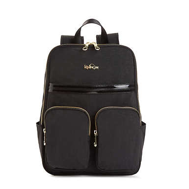 Sandra Backpack - Black Patent Combo