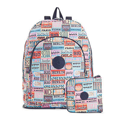 Earnest Printed Foldable Backpack - Hello Weekend