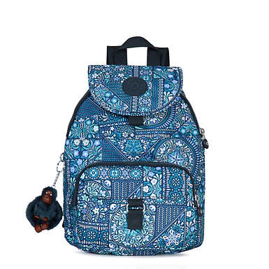 Queenie Printed Small Backpack - Dizzy Darling Blue