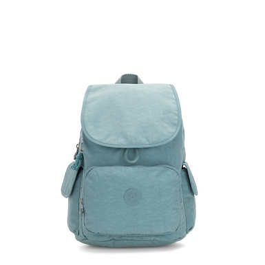 키플링 Kipling City Pack MediumBackpack,Aqua Frost