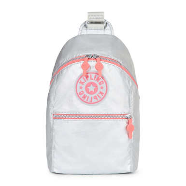Bente Metallic Backpack - Platinum Metallic