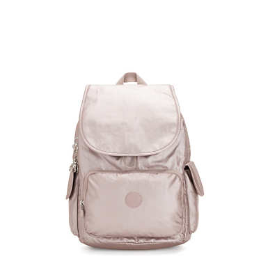 City Pack Medium Metallic Backpack - Metallic Rose