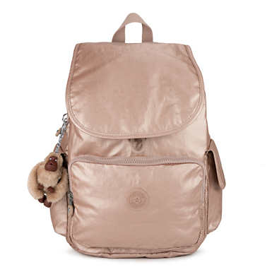 City Pack Metallic Backpack - Rose Gold Metallic