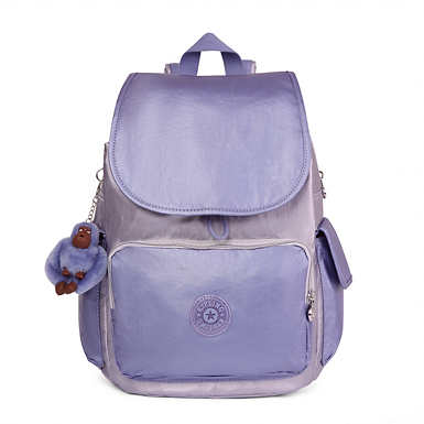 City Pack Metallic Backpack - Purple Combo