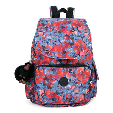 City Pack Printed Backpack - Festive Floral