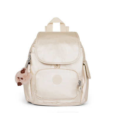 City Pack Extra Small Metallic Backpack - Sparkly Gold