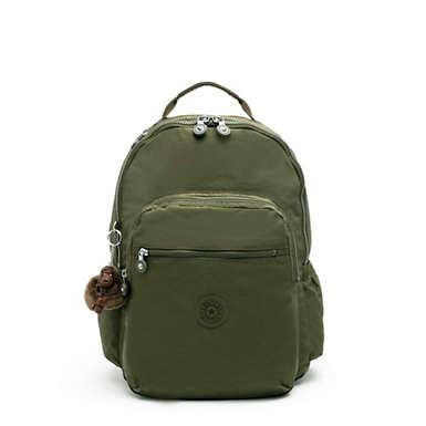 키플링 서울 고 15인치 랩탑 백팩 라지 - 그린 Kipling Seoul Go Large15 Laptop Backpack,Jaded Green Tonal Zipper