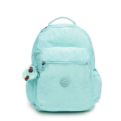 "Seoul Go Large 15"" Laptop Backpack - Fresh Teal Tonal Zipper"