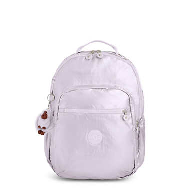 "Seoul Go Large Metallic 15"" Laptop Backpack - Frosted Lilac Metallic"