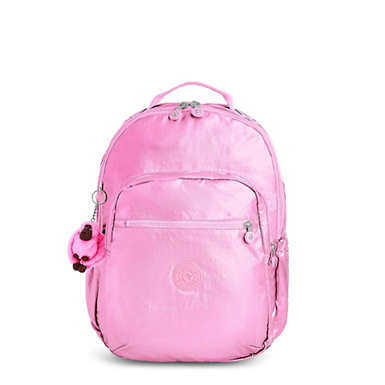 "Seoul Go Large Metallic 15"" Laptop Backpack - Prom Pink Metallic"
