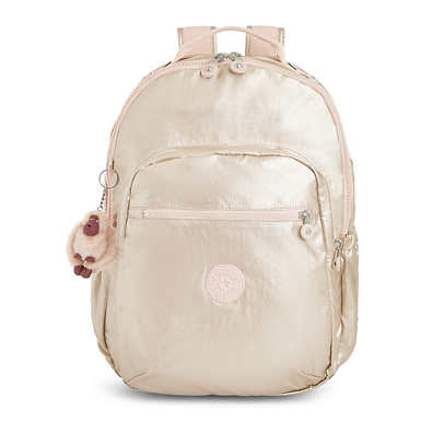 "Seoul Go Large Metallic 15"" Laptop Backpack - Gleaming Gold Metallic"