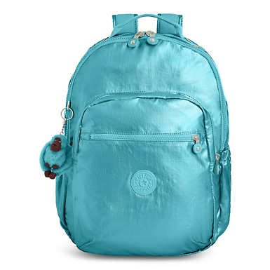Seoul Go Large Metallic Laptop Backpack - Turkish Tile Metallic